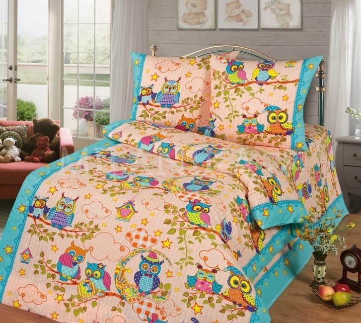 Детское постельное для подростков «Совушки». (бязь)