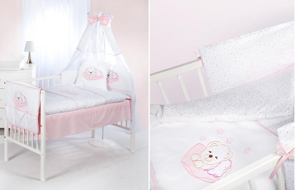 """Постельное белье """"Спящий медведь"""" (розовый) H107 (klups)"""