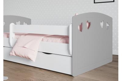 Кровать детская с бортиками  Лаура-2 серый..