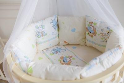 Постельное в круглую кроватку Улыбка (5 предметов)