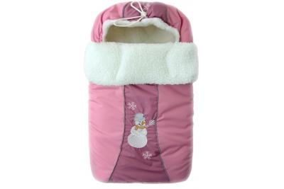 """Конверт для новорожденного """"Снежинка"""" LITTLE PEOPLE розовый."""