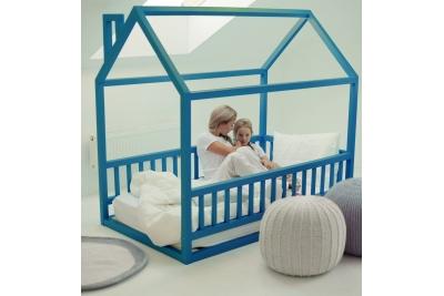 Кровать Домик модель арт. B-B/020 голубая.