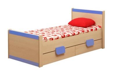 Кровать подростковая Лайф-4 голубая.