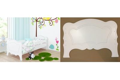 Кровать детская  Мико с матрасом и бортиками.