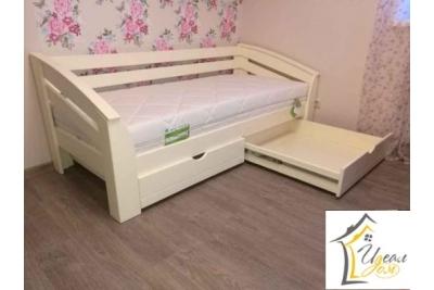 Кровать подростковая Флэшка-Люкс (массив сосны).