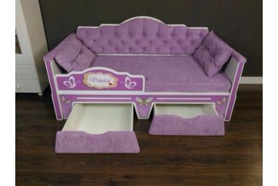 Кровать детская от 3х лет серия Иллюзия цвет сирень 160Х80