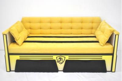 Кровать тахта для детей серия Спорт желтая  160Х80.
