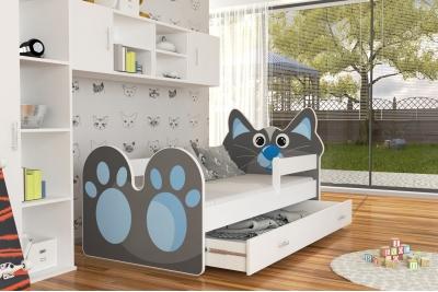 Кровать детская Котик с матрасом.