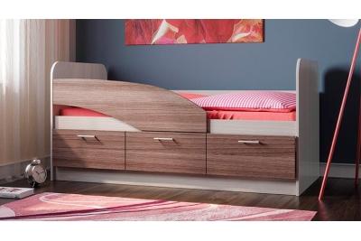 Кровать детская Дельфин 180 (ясень шимо светлый/темный).
