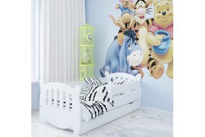 """Кровать детская """"Куба"""" с бортиками и подкроватным ящиком."""
