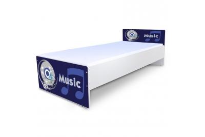 """Кровать подростковая Nobiko """"Music"""" с матрасом."""