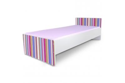 """Кровать подростковая Nobiko """"Полоски"""" с матрасом."""
