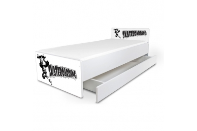 """Кровать подростковая Nobiko """"Skateboarding"""" с матрасом и подкроватным ящиком."""