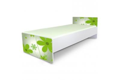 """Кровать подростковая Nobiko """"Цветы green"""" с матрасом."""