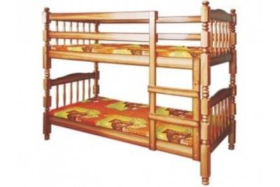 Двухъярусная кровать Людмила-Люкс-1 тонированная.