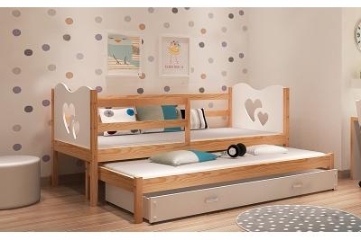 Выдвижная кровать для двоих детей MAX2 с матрасами.