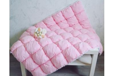 """Одеяло детское """"Розовый горошек"""" Бомбон"""
