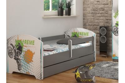 """Кровать детская от года модель Оскар """"Экстрим"""" с ящиком и матрасом."""