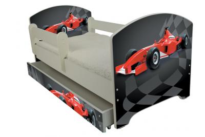 """Кровать детская от года модель Оскар  """" Формула""""  с матрасом и подкроватным ящиком."""