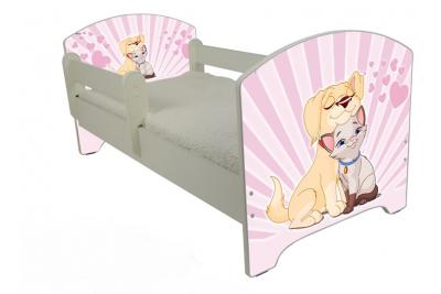 """Кровать детская от года Oskar   """"Влюбленный пес"""" с матрасом."""