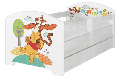 Кровать детская Oskar X  Disney Тигруля и Винни с бортиками и матрасом без подкроватного ящика.