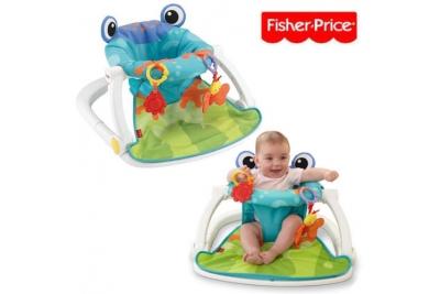 Стульчик для кормления Fisher-Price Rainforest Sit-Me-Up Floor Seat–Frog.