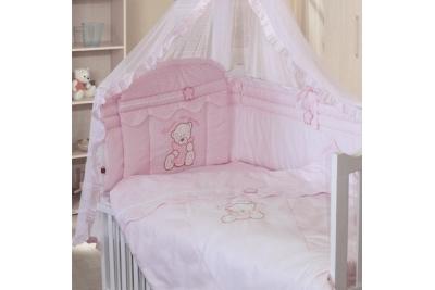 Комплект в кроватку Золотой Гусь 7 Сабина розовый 1416