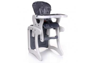 Стульчик-трансформер для кормления Fashion серый.