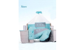Комплект в кроватку Tuttolina Stars 14 (15 розовый, 16 беж) (7 предметов)