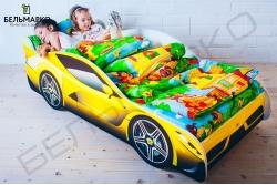 Детская кровать в виде машины FERRARI.
