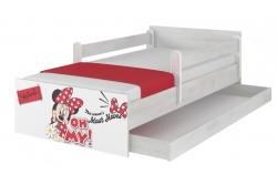 """Кровать детская с перилами и подкроватным ящиком  MAX """"Минни - стиль""""+ матрас."""