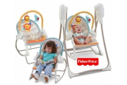 Детские электронные качели 3в1  Fisher-Price BFH07 Слоненок и львенок.