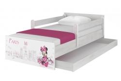 """Кровать детская с перилами и подкроватным ящиком MAX """"Минни в Париже""""+ матрас."""