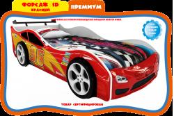 Кровать-машинка Maxi Форсаж 3Д красная.