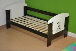 Детская кровать с перилами Animals с матрасом.