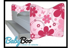 """Кровать детская от 3-х лет Junior """"Розовые цветы"""""""