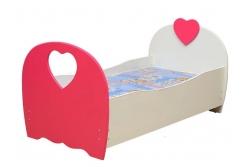Кровать подростковая Сердце с  матрасом.