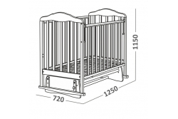 Детская кроватка CКВ Артикул 124009 бежевая.