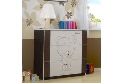 """Кровать детская от 3-х лет Oskar Х"""" Шоколадный мишутка"""" с матрасом и ящиком."""