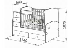 Детская кроватка трансформер СКВ 930036 ( 930035, 930037).