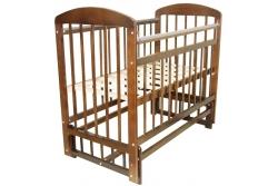 Кроватка детская Эстель 9 : поперечный маятник без ящика, РФ : Орех, Темный.