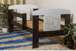 Кровать детская от года с перилами Animals Ecco140/70.
