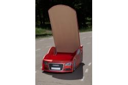 Детская кроватка-машинка Ауди A6 red с подсветкой фар.