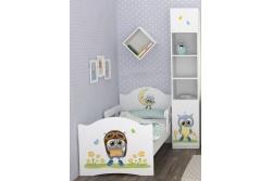 """Кровать детская от 3х лет с бортиками Oskar """"Маленький Совенок"""" c матрасом."""