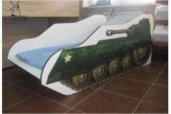 Детская кровать-машина танк.