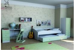 Кровать двухъярусная выдвижная Neo4.