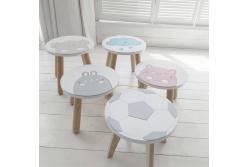 Детский столик и  стульчик и табурет Классик апликация (комплект 1+2)