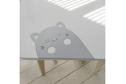 Детский столик и стульчик Классик апликация котик (комплект 1+1)