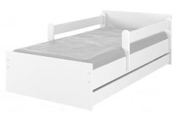 Кровать детская с бортиками Макс цвет белый.
