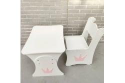 Детский столик растущий и стул МДФ Апликация корона